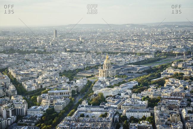 Aerial view of Paris cityscape, Paris, Ile de France, France,Paris, Ile de France, France