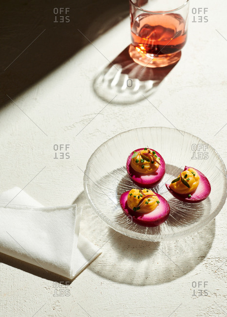 Pickled deviled eggs - Offset Collection