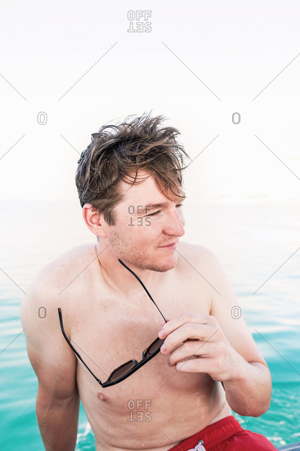 Man Relaxing on Summer Vacation