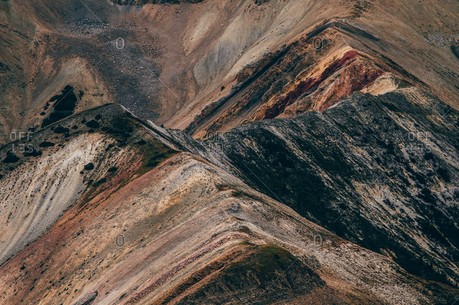 Rainbow Of Colors In the Geology of Canadian Rockies
