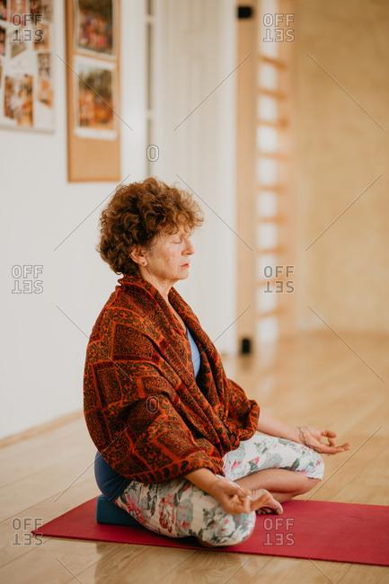 A 68 Years Old Cancer Survivor Enjoying Yoga