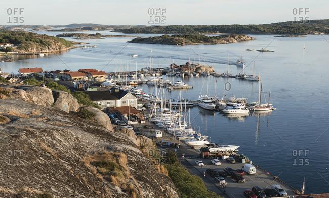 Sweden - July 29, 2018: Landscape with harbor