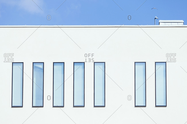 Windows of modern building