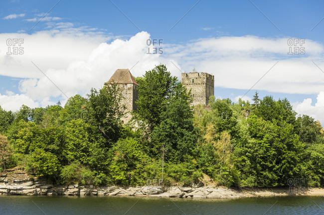 Austria- Lower Austria- Waldviertel- Ottenstein Reservoir- castle Lichtenfels