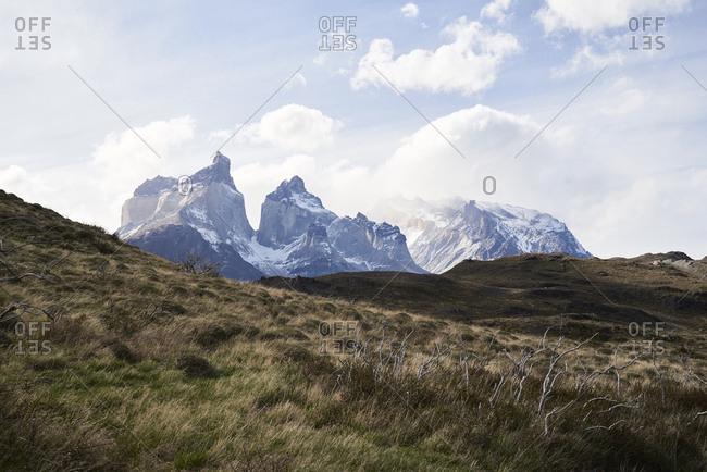 Chile- Patagonia- Landscape of Torres del Paine National Park