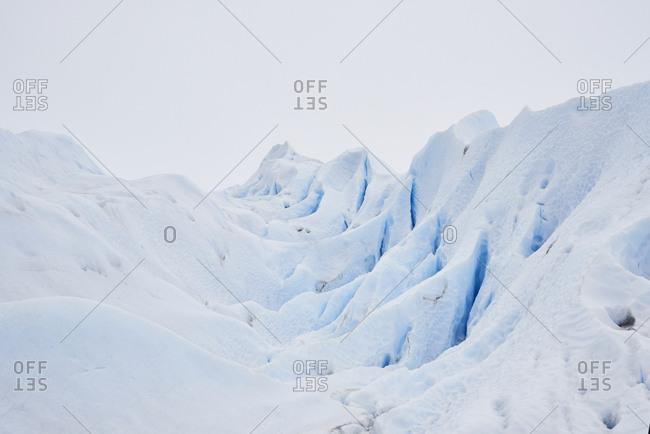 Argentina- Patagonia- Glacier shapes in Perito Moreno Glacier