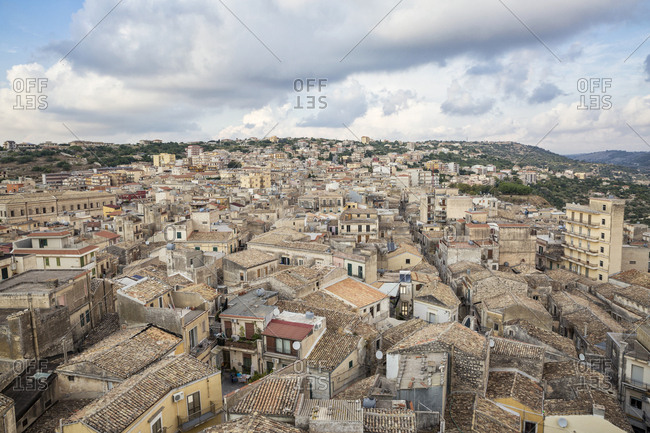 Italy- Sicily- Modica- townscape