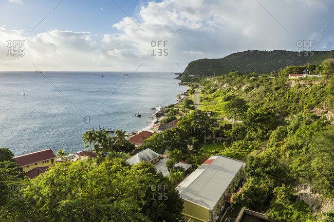 Caribbean- Netherland Antilles- St. Eustatius- Oranjestad bay