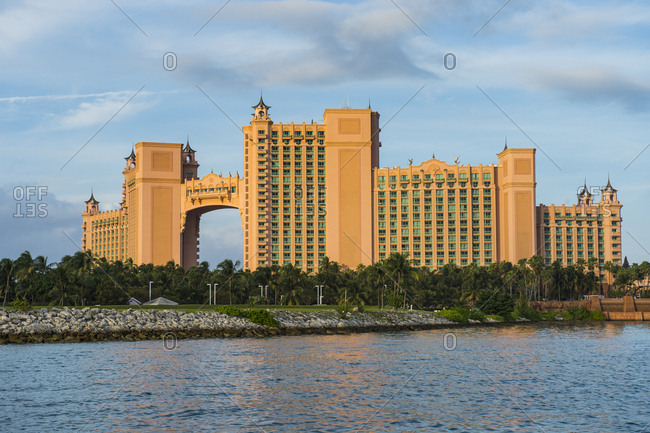 December 3, 2015: Bahamas- Nassau- Paradise Island- Hotel Atlantis at the waterfront