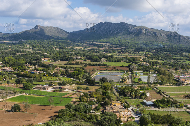 Spain- Baleares- Mallorca- Arta- View from the Pilgrimage church of Sant Salvador