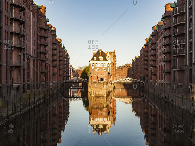 Germany- Hamburg- Old Warehouse District and Wasserschloss