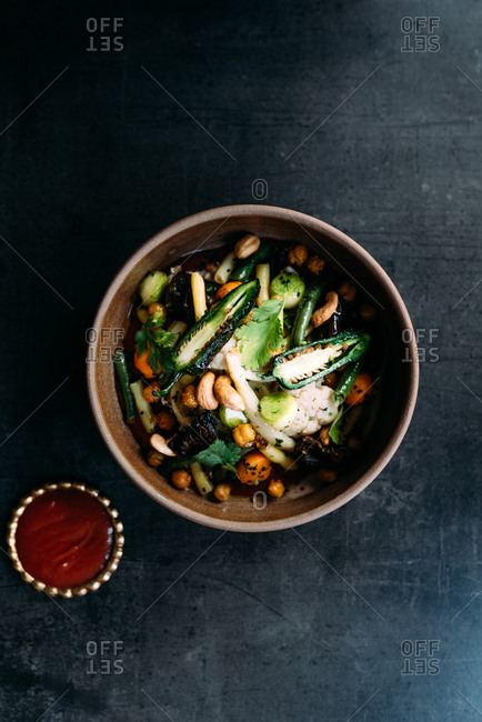 Tagine harissa with vegetables