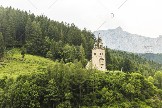 Austria- Styria- Eisenerz- Schichtturm tower