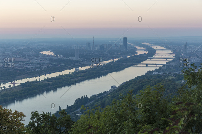 Austria- Vienna- view from Kahlenberg at sunrise