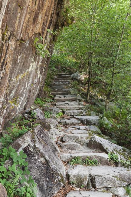 Switzerland- Ticino- Verzasca Valley- hiking trail