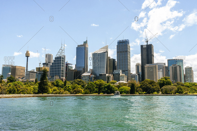 November 25, 2018: Australia- New South Wales- Sydney- skyline of the financial district of Sydney