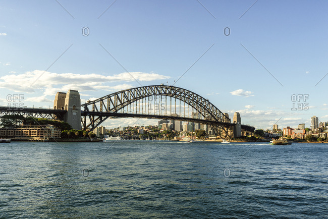 November 25, 2018: Australia- New South Wales- Sydney- landscape with the Sydney bridge