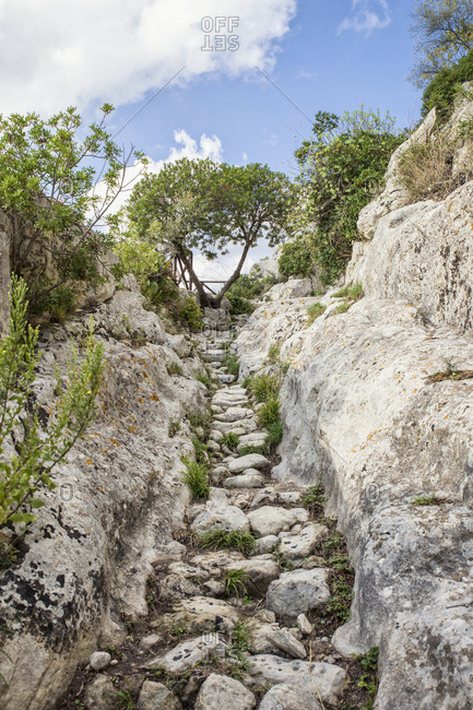 Sicily- Syracuse Province- Noto Antica- Cava del Carosello- hiking trail