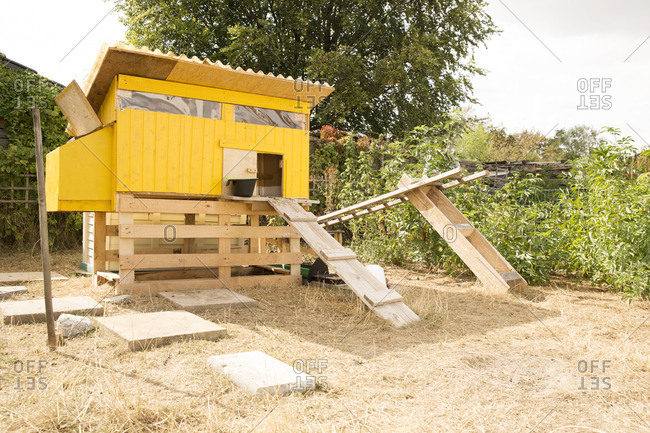 Chicken house in garden