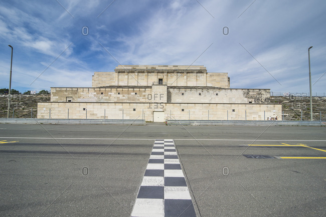 Germany- Nuremberg- Zeppelinfeld- Grandstand at the Nazi rally grounds