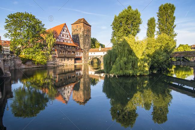 Germany- Nuremberg- old timbered house and Henkerhaus