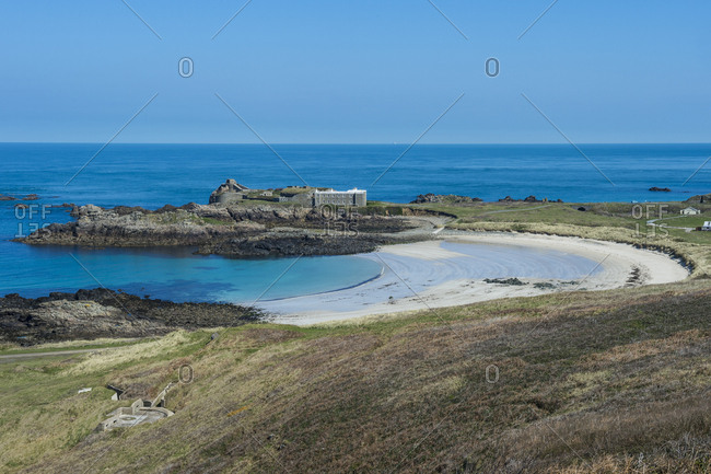 United Kingdom- Channel Islands- Alderney- Chateau lento and Saye beach