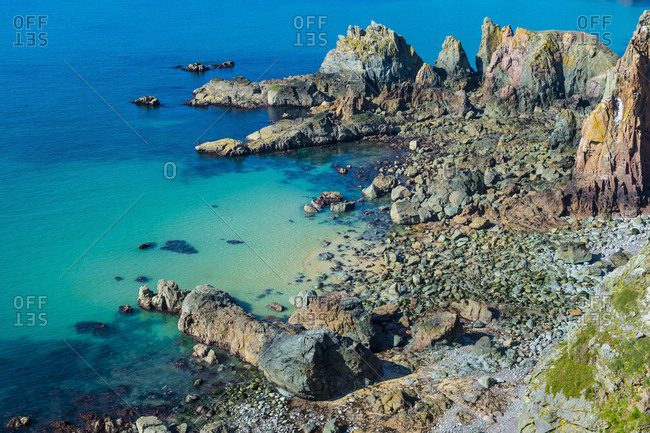 United Kingdom- Channel Islands- Alderney- Rocky west coast