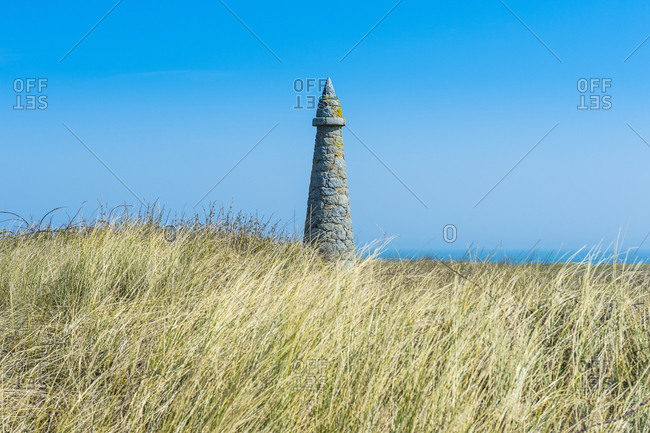 United Kingdom- Channel islands- Herm- Pierre aux Rats Obelisk