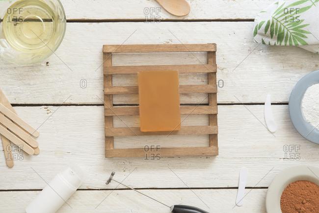 Natural soap made at home