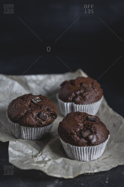 Chocolate muffins- paper liner