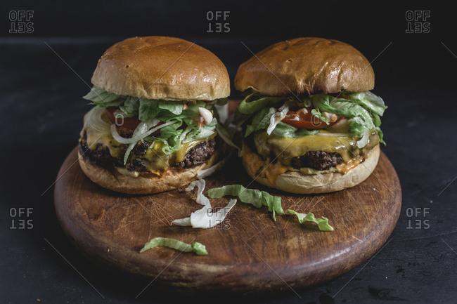 Cheeseburger with brioche bun