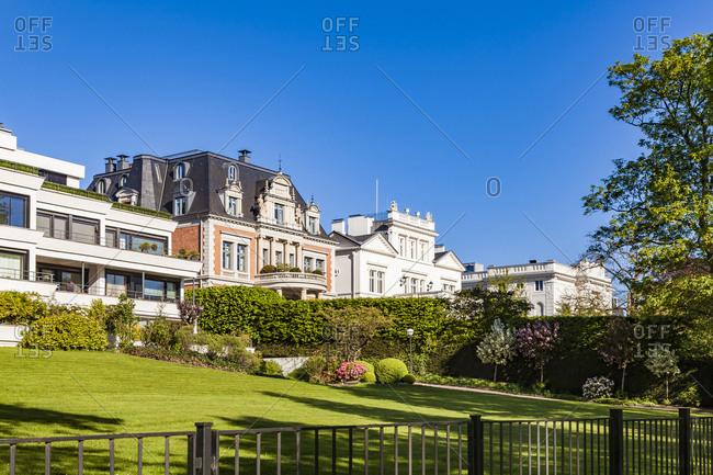 Germany- Hamburg- Eimsbuettel- villas at the Alster Lake