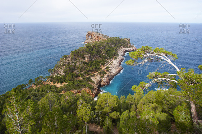 Spain- Balearic Islands- Mallorca- Deia- Peninsula Sa Foradada- hiking trail