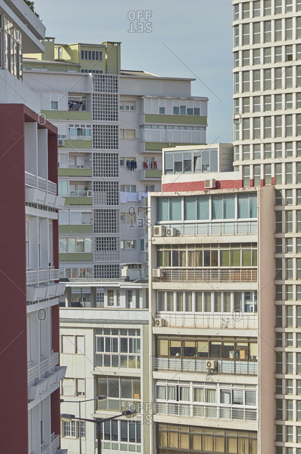 High rise apartment buildings in the Alvalade district in Lisbon, Portugal