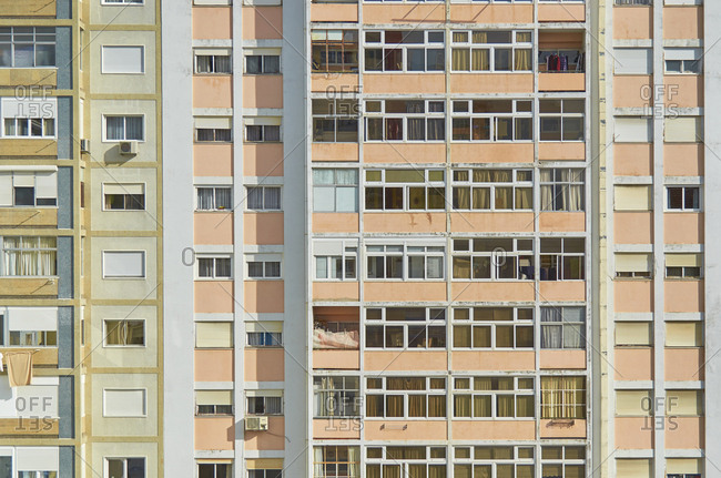 Apartment buildings in the Alvalade district in Lisbon, Portugal