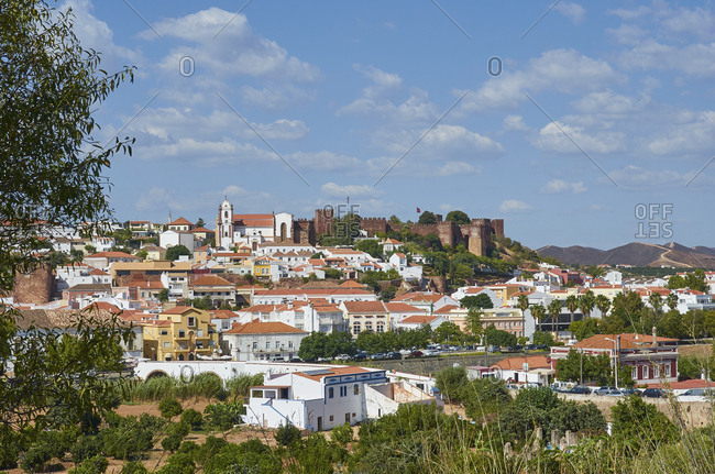Silves, Portugal - September 28, 2018: View of the town of Silves, Portugal