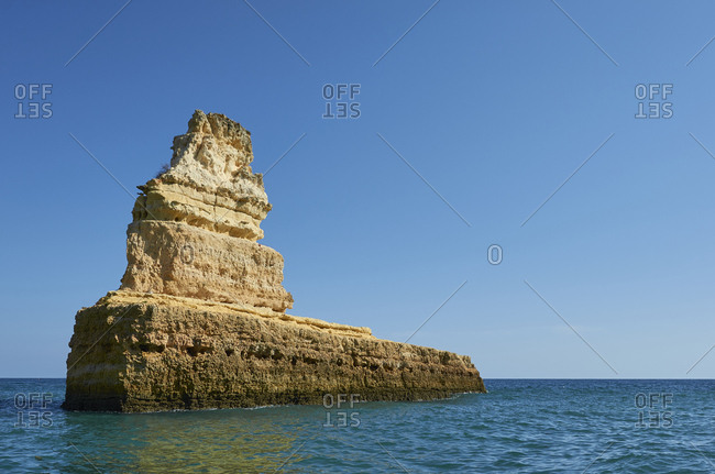 Rock formation in the sea off Benagil, Portugal