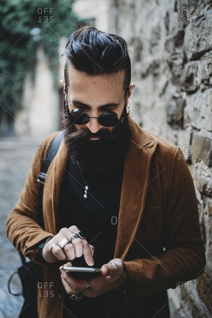 Hipster Fashion Style Businessman Stock Photo Offset
