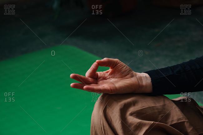 yoga hand mudras stock photos - OFFSET