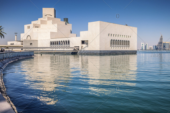Museum of Islamic Art, Doha, Ad-Dawhah, Qatar - January 3, 2016: Waterfront Museum of Islamic Art in Doha, Qatar