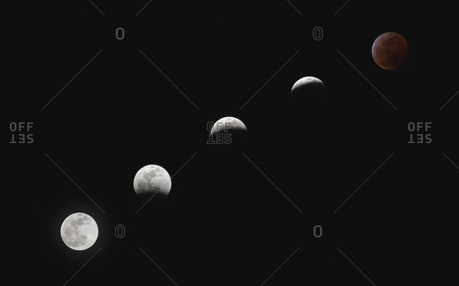 Composite image of lunar cycle