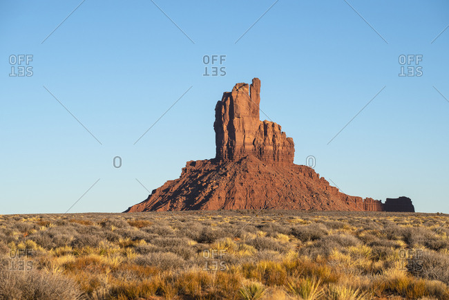 Rock formation in Monument Valley, Arizona, USA