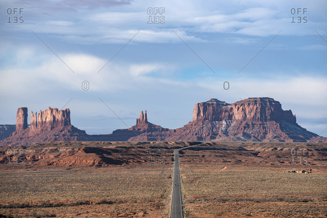 Landscape of Monument Valley in Utah, USA
