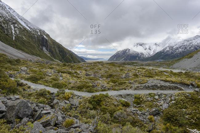 Hooker Valley in Mount Cook National Park, New Zealand