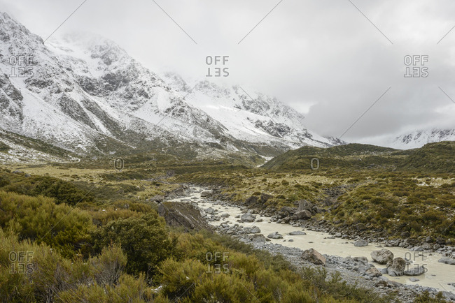 Hooker Valley in Mount Cook National Park, New Zealand
