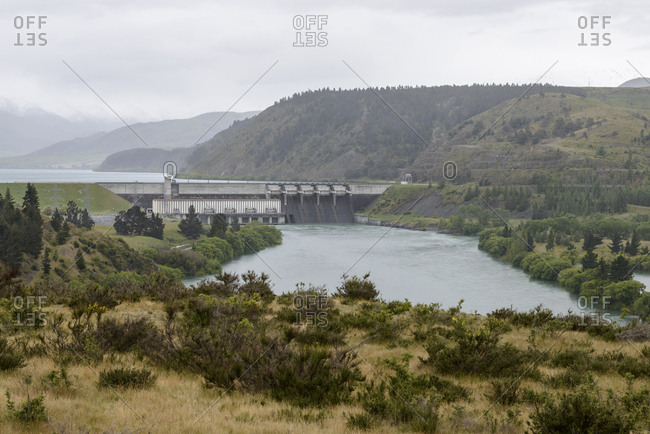 Aviemore Dam in Otago, New Zealand