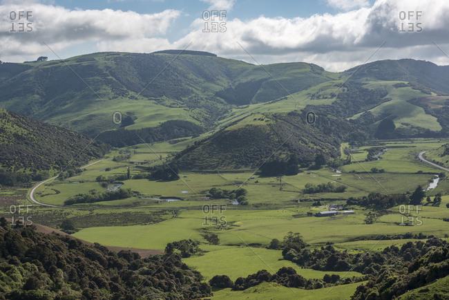 Rural landscape in Tawanui, New Zealand