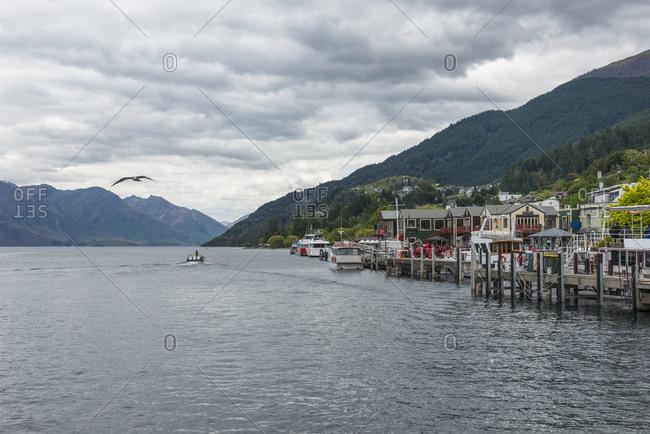 Marina on Lake Wakatipu in Queenstown, New Zealand