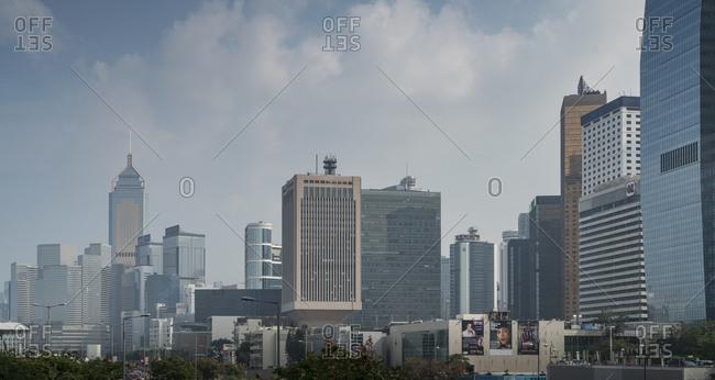 China, Hong Kong, - November 12, 2018: City skyline in Hong Kong, China