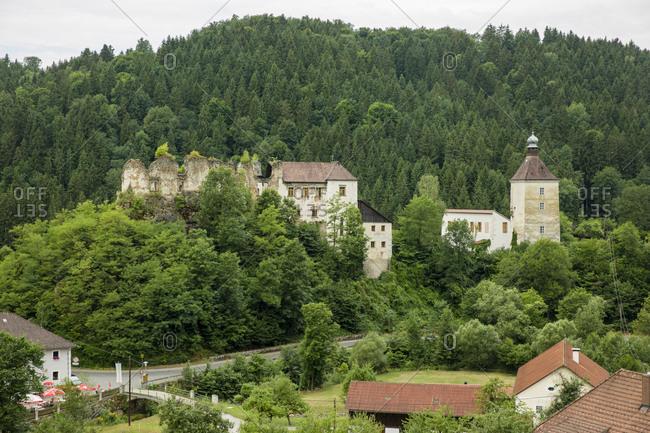 July 12, 2017: Austria- Upper Austria- Muehlviertel- Pregarten- Reichenstein castle